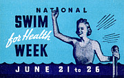 Historicimage Paintings - 1935 Swim for Health Poster by Historic Image