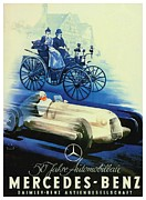 1907 Digital Art Prints - 1936 - Mercedes Benz German Poster Advertisement - Color Print by John Madison