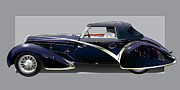 Podium Prints - 1936 Delahaye 135 Competition Print by Alain Jamar