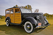 Vintage Cars Photos - 1936 Ford Woody by Marcia Colelli