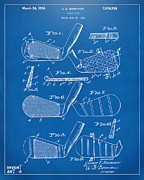 Golf Clubs Prints - 1936 Golf Club Patent Blueprint Print by Nikki Marie Smith
