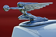 Historic Vehicle Photo Prints - 1936 Packard Hood Ornament 2 Print by Jill Reger