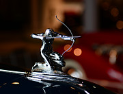 Badge Posters - 1936 Pierce Arrow Hood Ornament Poster by Paul Ward
