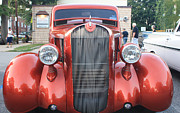 John Telfer Photography Prints - 1936 Plymouth Two Door Sedan Front View Print by John Telfer