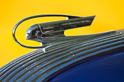 Blue Classic Car Prints - 1936 Pontiac Hood Ornament 2 Print by Jill Reger