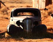 Mono Color Posters - 1937 Chevrolet Coupe  Bodie CA Poster by Troy Montemayor