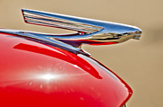 Red Chevrolet Prints - 1937 Chevrolet Hood Ornament 3 Print by Jill Reger