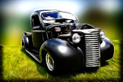 Rat Rod Photos - 1937 Chevy Truck by Steve McKinzie