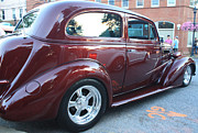 1937 Chevy Two Door Sedan Rear And Side View Framed Prints - 1937 Chevy Two Door Sedan Rear and Side View Framed Print by John Telfer