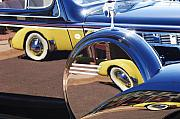 Reflected Prints - 1937 Cord 812 Phaeton Reflected into Packard Print by Jill Reger