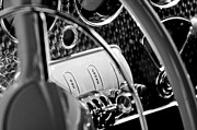 Steering Framed Prints - 1937 Cord 812 Phaeton Steering Wheel Framed Print by Jill Reger