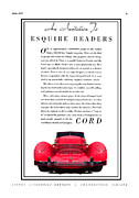 Transmission Digital Art - 1937 Cord 812 Phaeton vintage ad by Jack Pumphrey