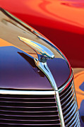 Grill Photo Posters - 1937 Ford Hood Ornament 2 Poster by Jill Reger