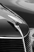 Collector Hood Ornament Metal Prints - 1937 Ford Hood Ornament 4 Metal Print by Jill Reger