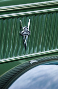 Vintage Cars Art - 1937 Ford Pickup Truck V8 Emblem by Jill Reger