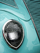 Headlamp Photos - 1937 Ford Sedan Slantback by Carol Leigh