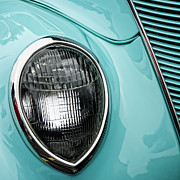 Headlamp Photos - 1937 Ford Sedan Slantback Square by Carol Leigh