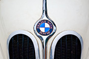 Photographs Framed Prints - 1937 Frazer Nash-BMW 328 Hood Emblem Framed Print by Jill Reger