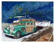 European Artwork Painting Prints - 1937 Hispano Suiza Varnished Thunder Print by Jack Pumphrey