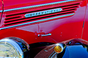 Classic Pickup Metal Prints - 1937 International D2 Pickup Truck Side Emblem Metal Print by Jill Reger