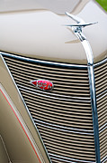 Lincoln Photos - 1937 Lincoln-Zephyr Coupe Sedan Grille Emblem - Hood Ornament by Jill Reger