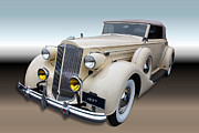 Bumpers Prints - 1937 Packard 12 Print by Kristin Elmquist