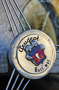 Mat Prints - 1937 Peugeot 402 Darlmat Legere Special Sport Roadster Recreation Steering Wheel Emblem Print by Jill Reger