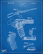 1937 Police Remington Model 8 Magazine Patent Artwork - Blueprin Print by Nikki Marie Smith