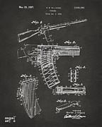 1937 Police Remington Model 8 Magazine Patent Artwork - Gray Print by Nikki Marie Smith