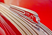 Collector Hood Ornament Metal Prints - 1937 Pontiac Chief Custom Hood Ornament Metal Print by Jill Reger