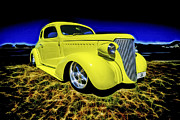 Custom Chevrolet Posters - 1938 Chevrolet Coupe Poster by motography aka Phil Clark