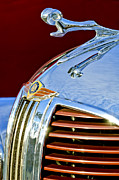 Hoodies Metal Prints - 1938 Dodge Ram Hood Ornament 3 Metal Print by Jill Reger