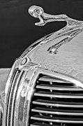 Black And White Photos Prints - 1938 Dodge Ram Hood Ornament 4 Print by Jill Reger