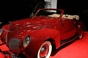 Transportation Art - 1938 Lincoln Zephyr Convertible Sedan - 5D19856 by Wingsdomain Art and Photography
