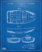 1938 Rowboat Patent Artwork - Blueprint Print by Nikki Marie Smith