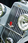 1939 Prints - 1939 Aston Martin 15-98 Abbey Coachworks SWB Sports Grille Emblems Print by Jill Reger