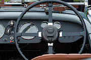 Steering Prints - 1939 Aston Martin 15-98 Abbey Coachworks SWB Sports Steering Wheel Print by Jill Reger