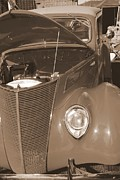 Mary Deal Prints - 1939 chevy Woody in Sepia Print by Mary Deal