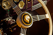 Car Detail Prints - 1939 Ford Standard Woody Steering Wheel Print by Jill Reger