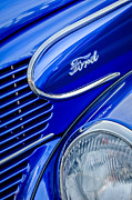 1939 Posters - 1939 Ford Woody Wagon Side Emblem Poster by Jill Reger