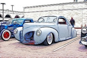 Model A Sedan Prints - 1939 Lincoln Zephyr Art Print by Steve McKinzie