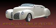 Will Power Metal Prints - 1939 Lincoln Zephyr Poster Metal Print by Jack Pumphrey