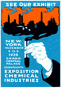 Engineering Painting Framed Prints - 1939 NYC Chemical Expo Poster Framed Print by Historic Image