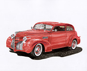 Street Rod Paintings - 1939 Pontiac Street Rod by Jack Pumphrey