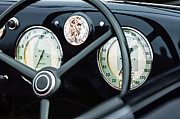 1940 Photos - 1940 Alfa Romeo 6C 2500 SS Graber Cabriolet Steering Wheel - Guages by Jill Reger