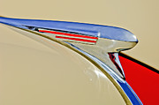 Vintage Hood Ornaments Prints - 1940 Chevrolet Pickup Hood Ornament 2 Print by Jill Reger