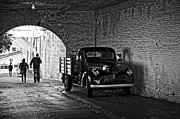 White Walls Metal Prints - 1940 Chevrolet pickup truck in Alcatraz Prison Metal Print by RicardMN Photography