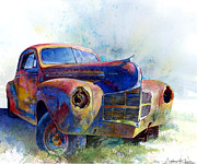Junkyard Posters - 1940 Dodge Poster by Andrew King