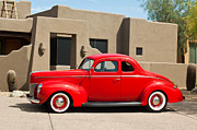 Old Photos Framed Prints - 1940 Ford Deluxe Coupe Framed Print by Jill Reger