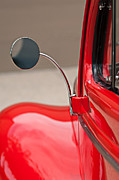 Classic Cars Posters - 1940 Ford Deluxe Coupe Rear View Mirror Poster by Jill Reger
